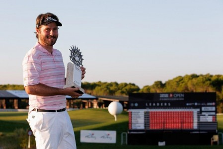 Victor Dubuisson lors de sa victoire le 10 novembre au Turkish Airlines Open  (Photo Getty Images)