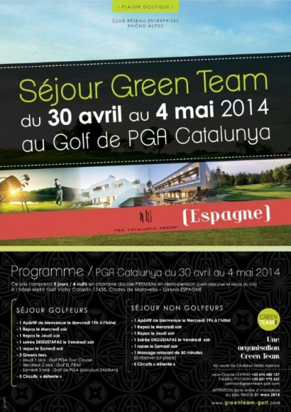 SITE Green Team Affiche Sejour