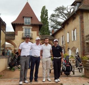 Laurent Balestro (Verger) était associé à Serge Geneau, président de Faure Up pendant que  Gary Stal jouait en compagnie de son ami de toujours Lucas Gilardini, vainqueurs en brut. Photo R.B