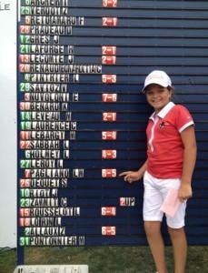 Lise Marie Pagliano (Mionnay) en – 12 ans, fut une des rares satisfactions de la ligue. Photo D.R.
