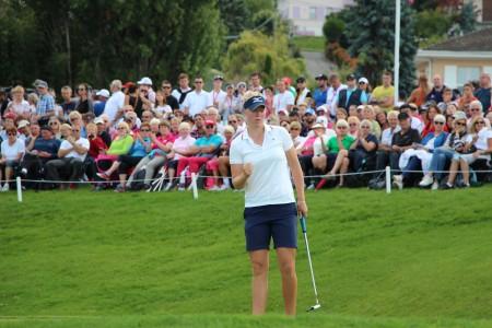 La Danoise Nicole Broch Larsen, onzième àl'Évian Championship le 13 septembre dernier, sera présente à Chantaco - Photo A.P. / Magazine Golf Rhône-Alpes