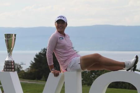 Lydia Ko lors de sa victoire à Evian en 2015 - © D. ROudy  / Golf Rhône Alpes Magazine