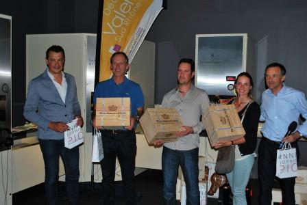 L'équipe première en brut du 2e pro-am de Valence ville de la gastronomie, avec Agathe Sauzon.