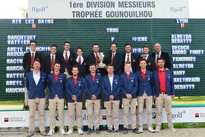 Les équipes du GCL et de Aix les Bains réunies - Photo A. Orloff/ Ffgolf