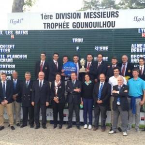 Les joueurs du GCL champions de France par équipes 1ère Division - Photo DR