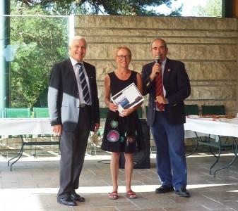 Georges Mauduit (à gauche) lors de la remise des prix du Challenge l'an passé au G.C Lyon - Photo Golf Rhône-Alpes Magazine