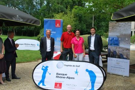 Céline Fontant et Thierry Bruyas, premier en net du Trophée Banque Rhône-Alpes 2016 à Charmeil