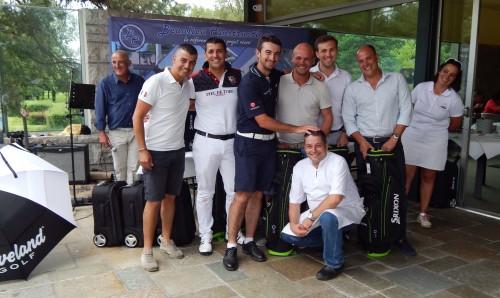 En brut, l'équipe de Gary Stal  (Lucas Gilardini, Benjamin et Martin  Bedos Bosc) était intouchable. - © Golf Rhône-Alpes Magazine