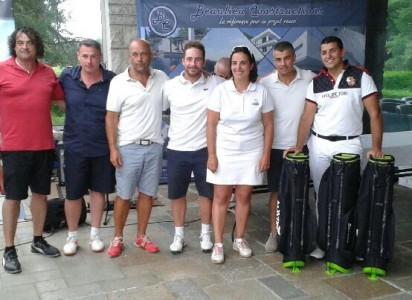 En net, succès de la formation de Clément Martin (Eric Forissier, Jean François Celerier, Patrick  Besson)- Photo © Golf Rhône Alpes Magazine
