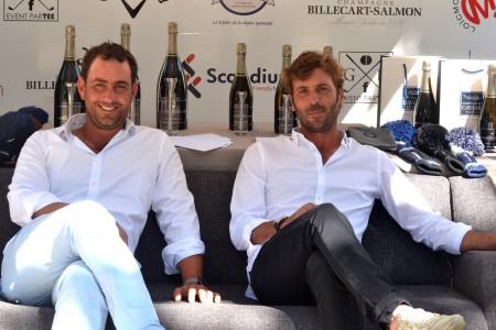 Germain Ruste (à gauche) et Alexandre Biron les deux instigateurs du Pro-Am - Photo ©J.Del Pino / Golf Rhône-Alpes Magazine