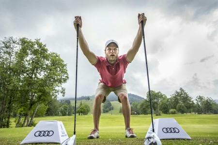 «  Quand Julien Lizeroux participe à l'Audi Quattro Golf Challenge il garde certains réflexes » -@scalpfoto