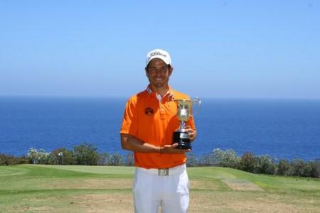 Adrien Saddier, comblé par ce premier succès chez les professionnels. Photo European Tour