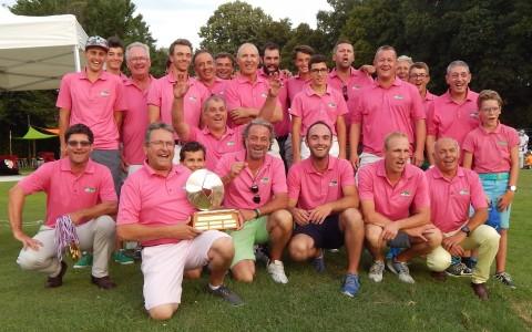 Après 2011, 2012 et 2013, l'équipe de Bouvent remporte son 4è titre de champion de l'Ain - Photo © Golf Rhône Alpes Magazine