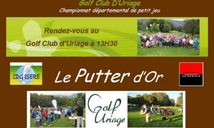 Le Putter d'Or à Uriage le 14 octobre