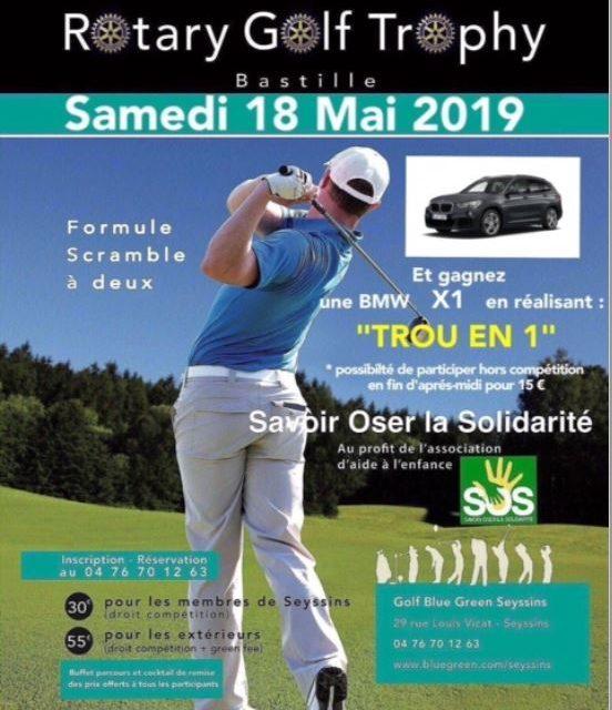 Rotary Golf Trophy à Seyssins le 18 mai